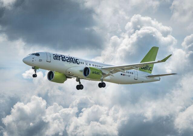 Un avión de AirBaltic
