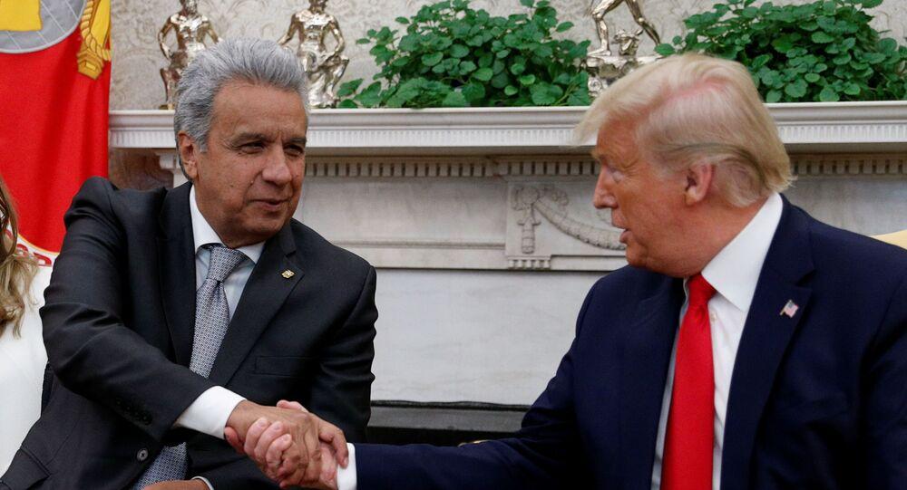 El presidente ecuatoriano, Lenín Moreno, y su homólogo estadounidense, Donald Trump