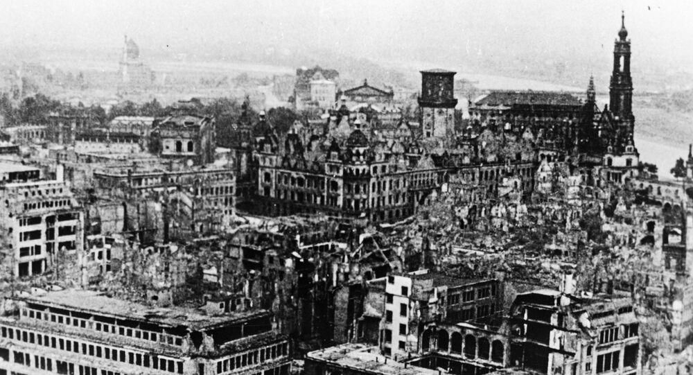 Los escombros de Dresde en 1951