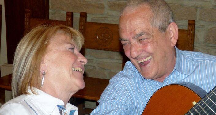 Txema Lorente y su esposa Maribel Tellaetxe