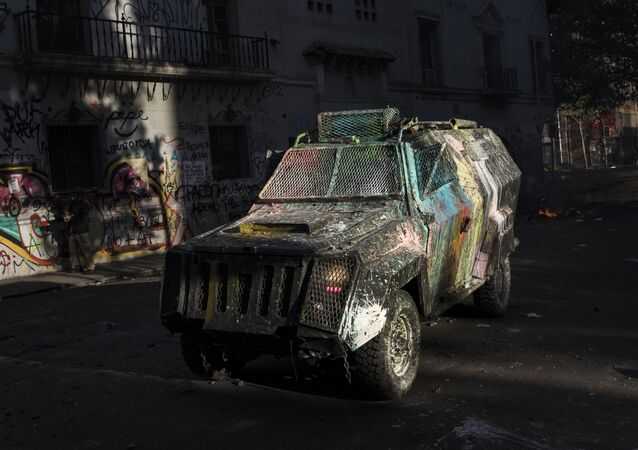 Una camioneta policial chilena (archivo)