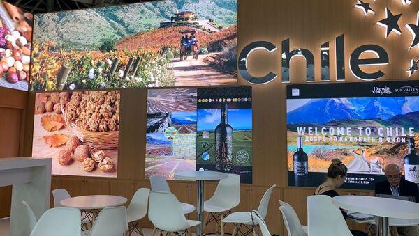 Pabellón chileno en la feria agroalimentaria internacional Prodexpo - Sputnik Mundo