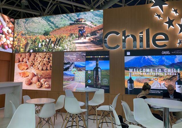 Pabellón chileno en la feria agroalimentaria internacional Prodexpo