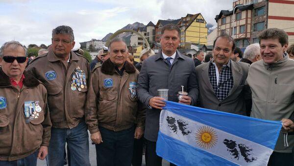 Acto de homenaje a los caídos en Malvinas en Ushuaia, Tierra del Fuego - Sputnik Mundo