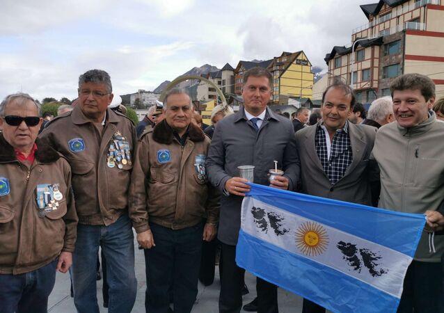 Acto de homenaje a los caídos en Malvinas en Ushuaia, Tierra del Fuego
