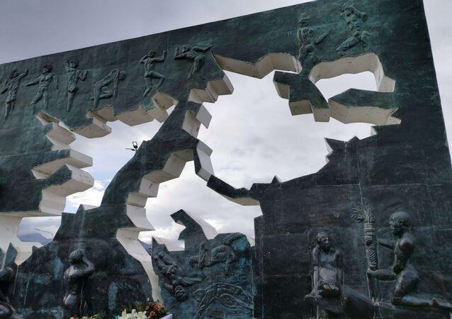 Monumento a los Caídos en Malvinas, en Ushuaia, Argentina