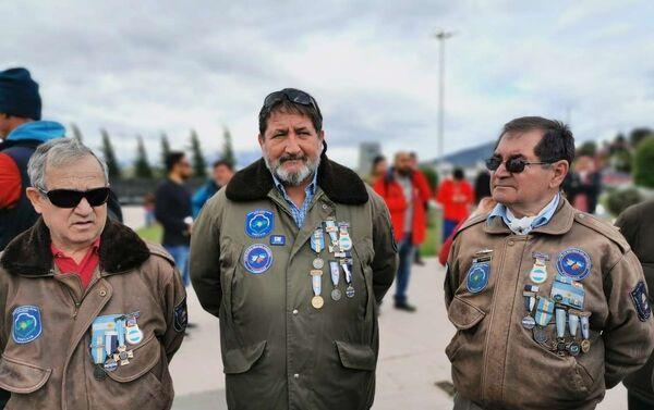 Veteranos de la Guerra de Malvinas presentes en el acto - Sputnik Mundo