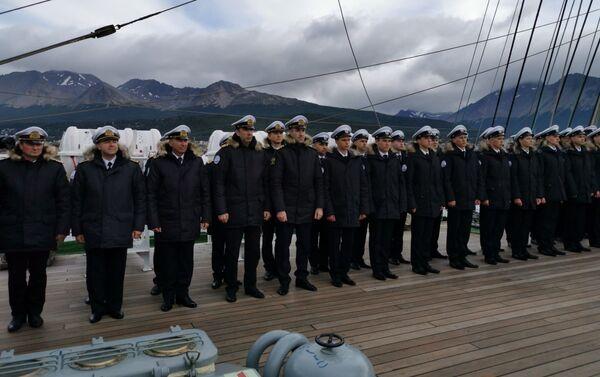 Tripulación del velero Kruzenshtern en Ushuaia - Sputnik Mundo