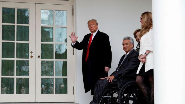 El presidente estadounidense, Donald Trump, y su homólogo ecuatoriano, Lenín Moreno - Sputnik Mundo