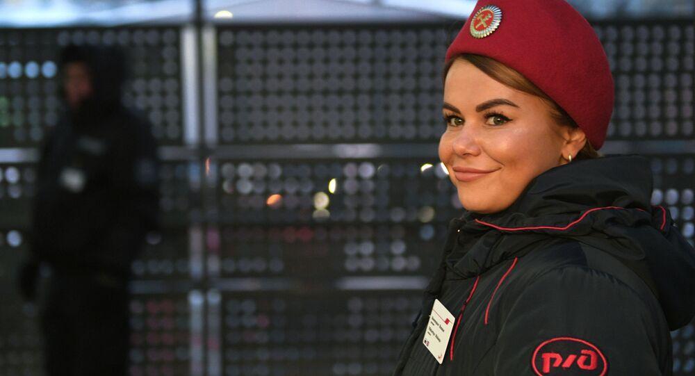 Una empleada del RZD, el gigante ferroviario ruso