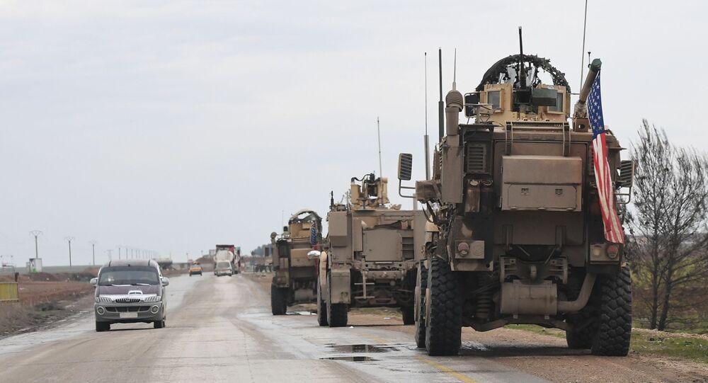 Un convoy militar de EEUU en Siria (archivo)