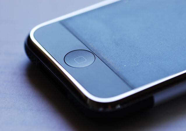 Un botón de un iPhone