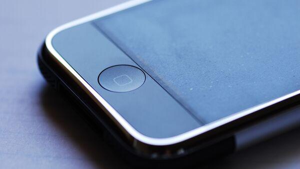 Un botón de un iPhone - Sputnik Mundo