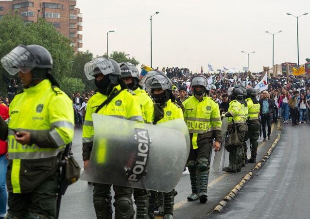Efectivos de la Policía de Colombia. Imagen referencial