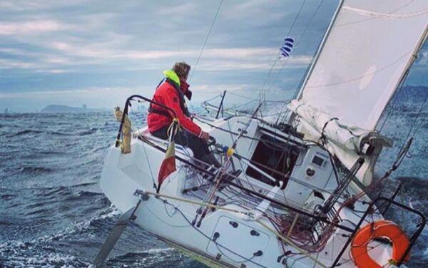 Federico Waksman en su embarcación - Sputnik Mundo
