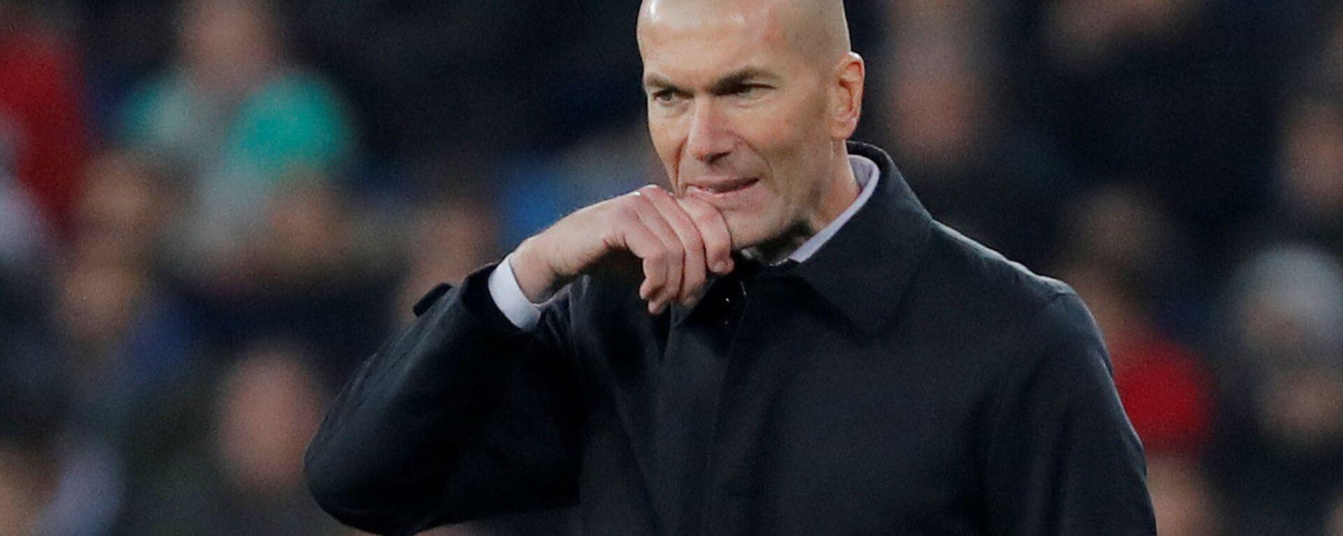 El exentrenador del Real Madrid Zinedine Zidane - Sputnik Mundo, 1920, 31.05.2021
