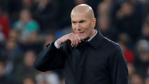 El entrenador del Real Madrid Zinedine Zidane - Sputnik Mundo
