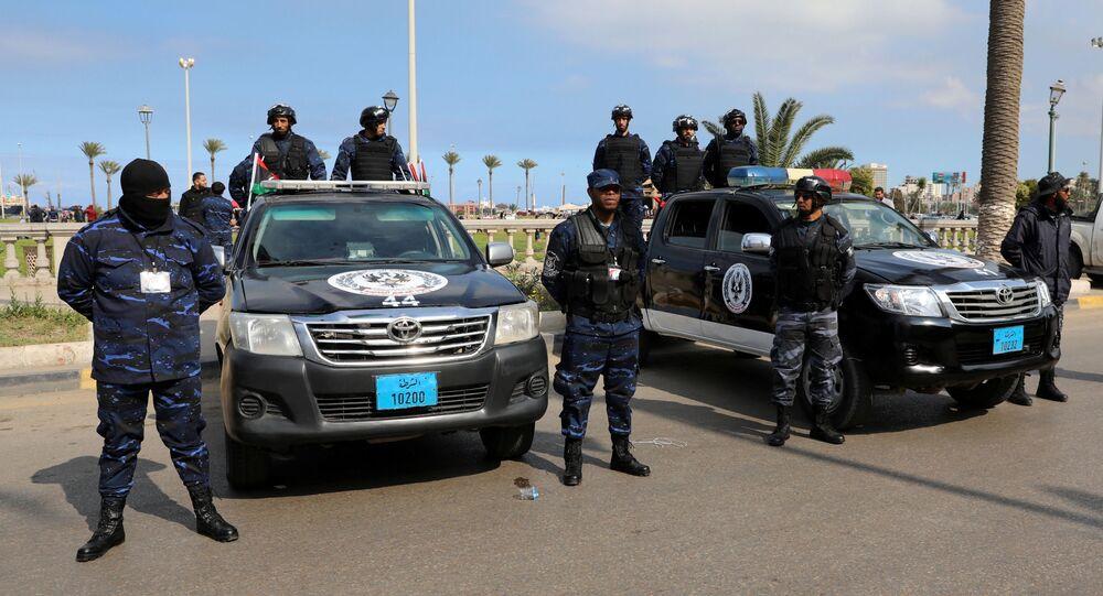 Las fuerzas de seguridad en Trípoli