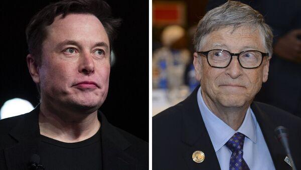 Elon Musk, fundador de Tesla / Bill Gates, fundador de Microsoft - Sputnik Mundo