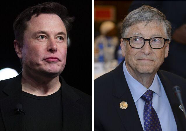 Elon Musk, fundador de Tesla / Bill Gates, fundador de Microsoft