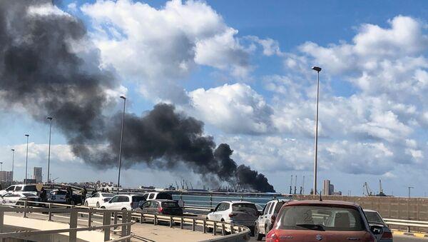 Situación en el puerto de Trípoli - Sputnik Mundo
