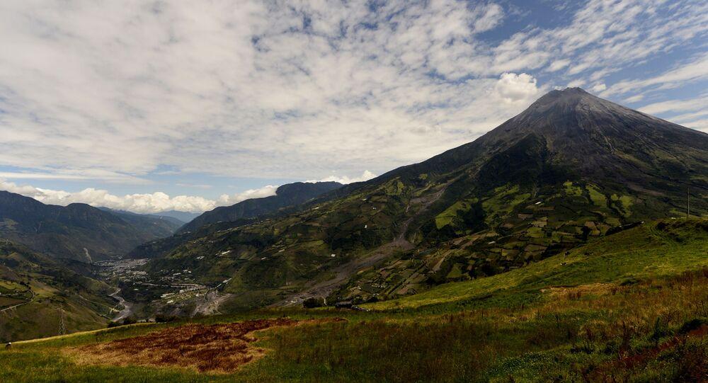 El volcán Tungurahua, Ecuador