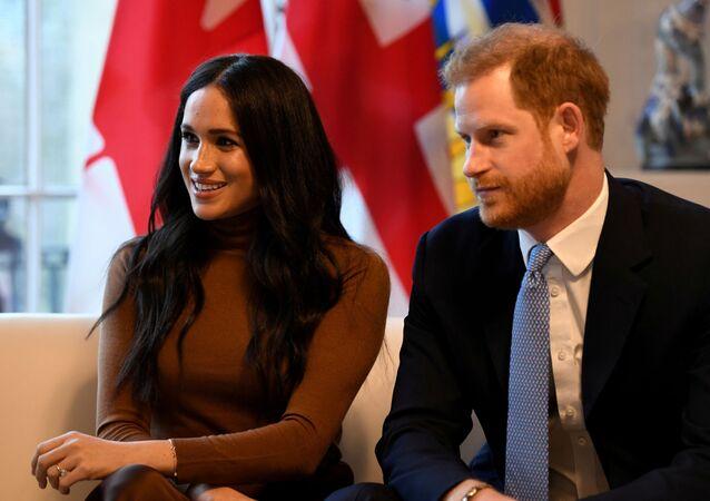 Meghan Markle y su exposo, el prínicpe Harry