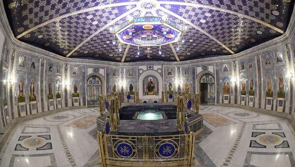 El piso inferior de la catedral de las FFAA de Rusia - Sputnik Mundo