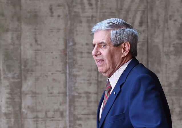 El general militar Augusto Heleno, el ministro jefe del Gabinete de Seguridad Institucional de Brasil