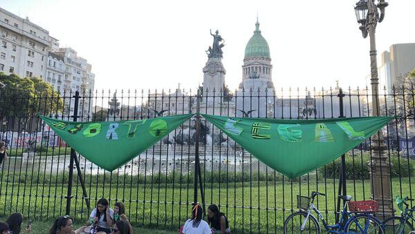 Una marcha por el aborto legal en Buenos Aires - Sputnik Mundo