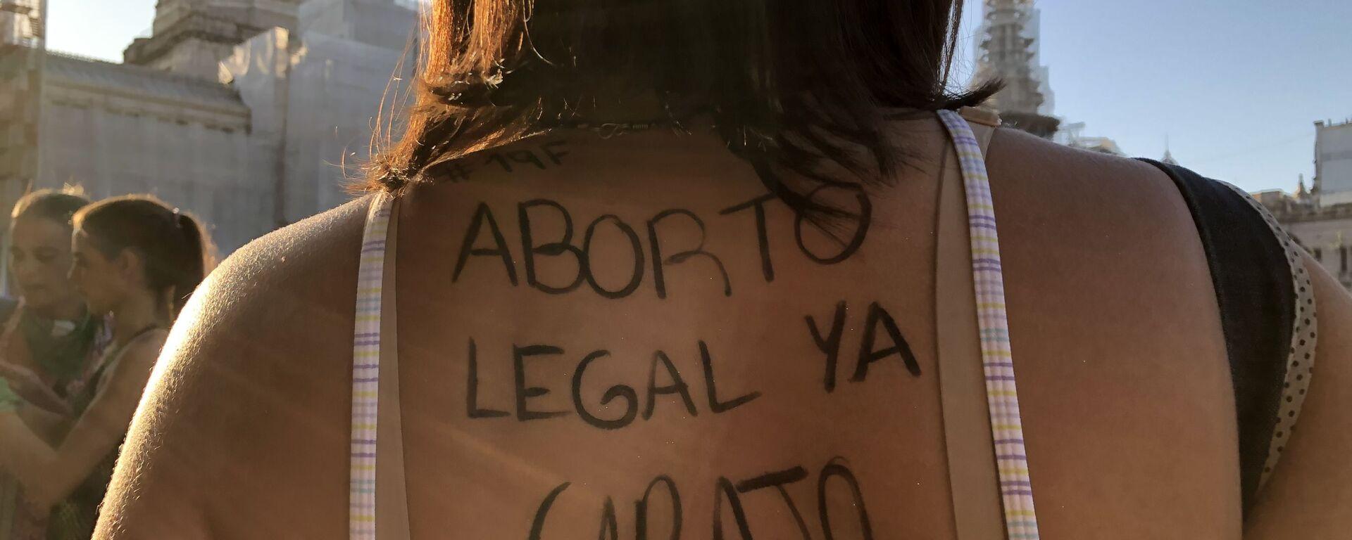 Una marcha por el aborto legal en Buenos Aires - Sputnik Mundo, 1920, 18.03.2021