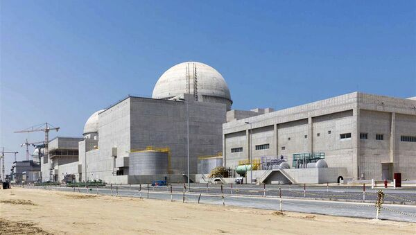La contrucción de la central nuclear de Barakah (archivo)  - Sputnik Mundo