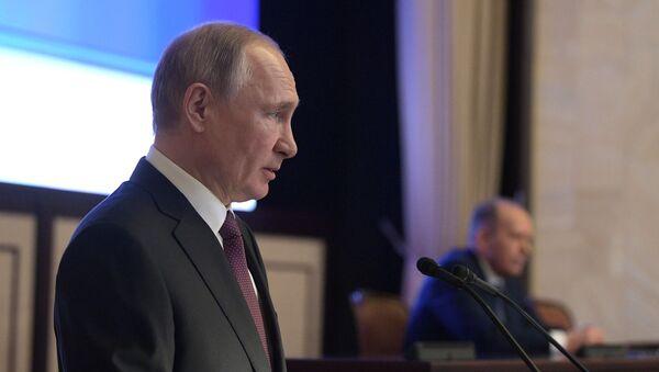 El presidente ruso, Vladímir Putin, en una reunión del Servicio de Seguridad Federal - Sputnik Mundo