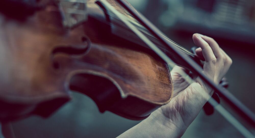 Una persona tocando el violín. Imagen referencial