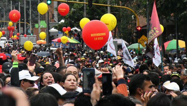Marcha de los docentes en Colombia - Sputnik Mundo