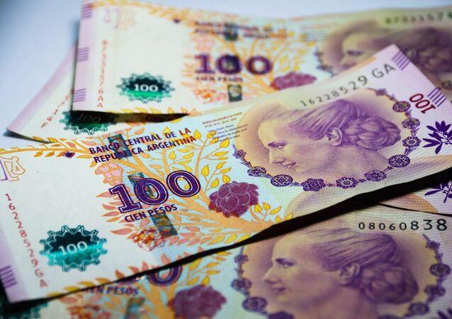 Billetes de cien pesos argentinos