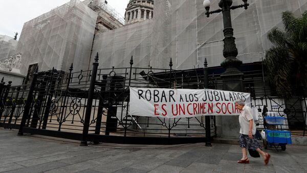 Reclamo por la situación de los jubilados en Argentina - Sputnik Mundo