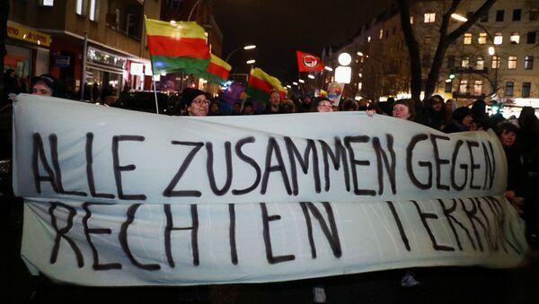Una marcha antiderechista en Hanau - Sputnik Mundo
