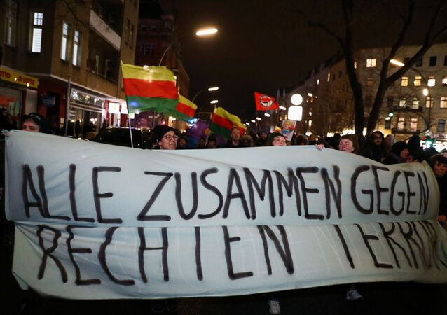 Una marcha antiderechista en Hanau