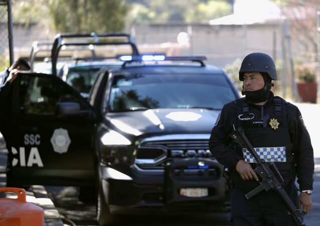 Un oficial de la Policía mexicana