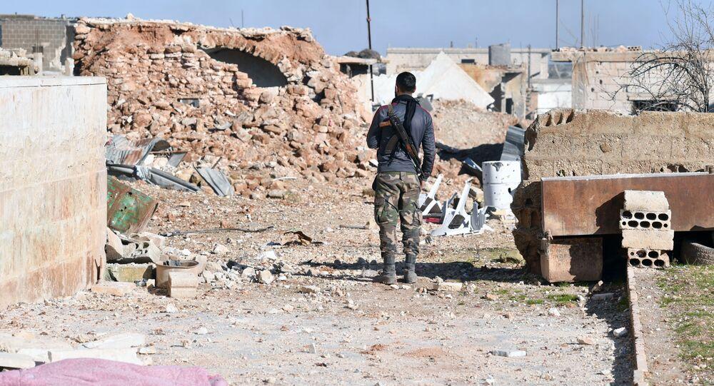 Un militar sirio en Idlib (archivo)