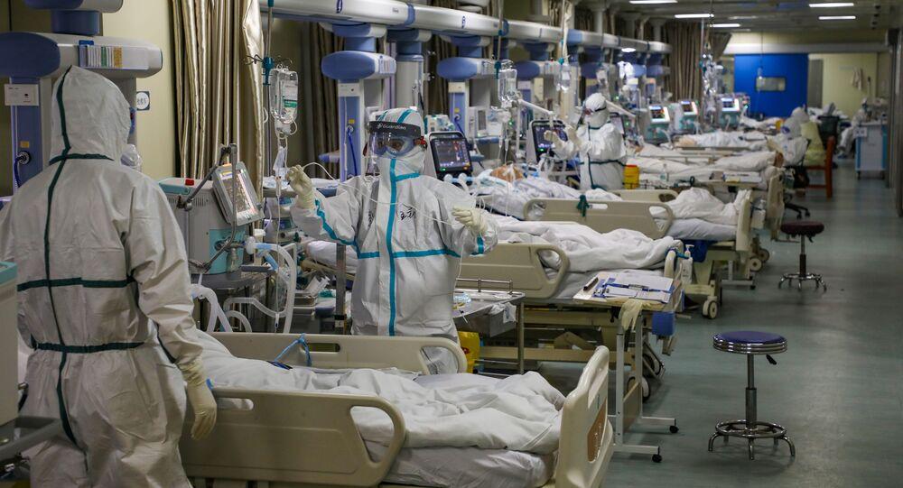 Un hospital para enfermos con el coronavirus en Wuhan