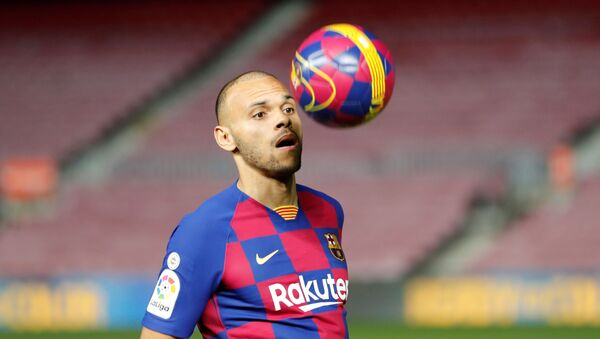 Martin Braithwaite, jugador del FC Barcelona - Sputnik Mundo
