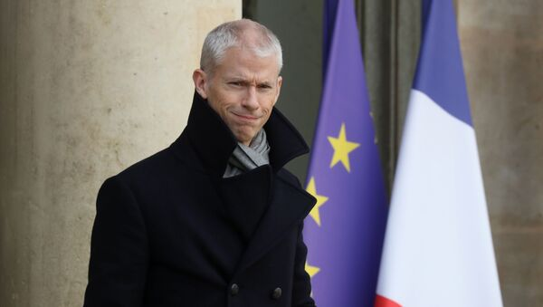 El ministro de Cultura francés, Franck Riester - Sputnik Mundo