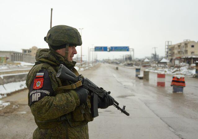 Un militar ruso en Siria