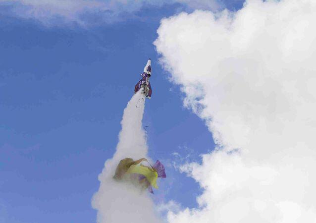 Lanzamiento del cohete de Mike Hughes