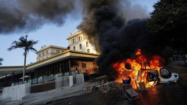 Incidentes frente al tradicional Hotel O'Higgins en Viña del Mar - Sputnik Mundo