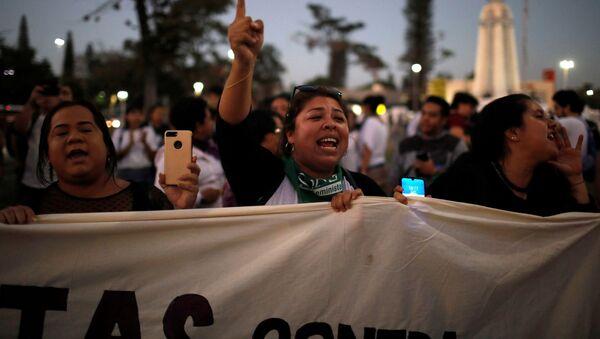 Manifestación en contra del presidente Nayib Bukele - Sputnik Mundo