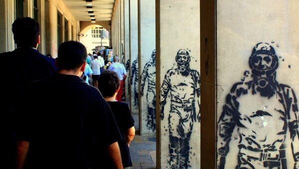 Grafitis de Néstor Kirchner como El Eternauta - Sputnik Mundo