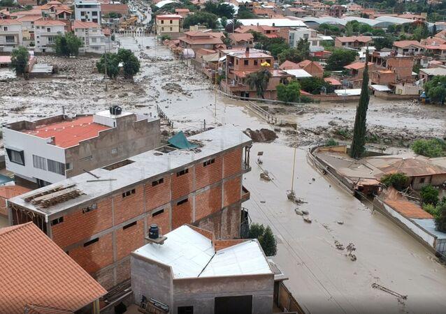 El desastre en Tiquipaya, Bolivia